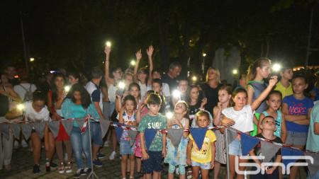 празника на курорта, минералната вода и Балкана