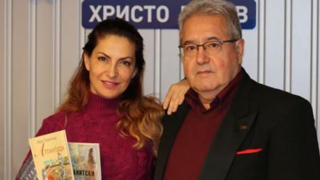Ива Дойчинова с Иван Гранитски в студиото на ''Нашият ден''