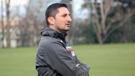 Селекционерът на юношеския отбор Марчо Дафчев.