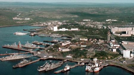 Руска военноморска база в Североморск.