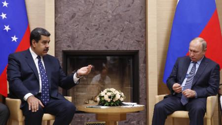 среща на президентите на Венецуела и Русия - Николас Мадуро и Владимир Путин