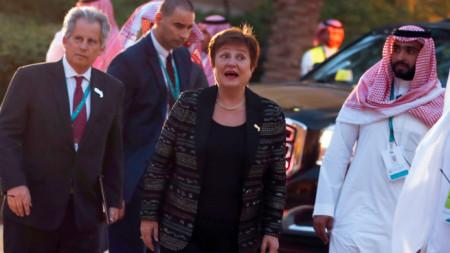 Кристалина Георгиева в Саудитска Арабия, където през уикенда бе срещата на финансовите министри и шефове на централни банки на Г-20.