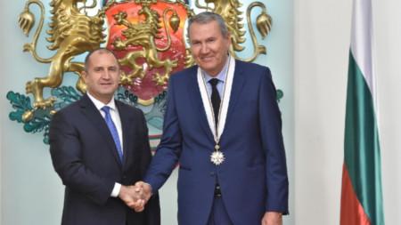 Атанас Голомеев и президентът Румен Радев.