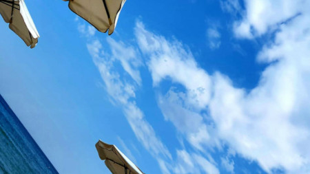 времето море небе плаж слънчево