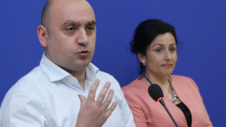Vasil Grudev (L) and Desislava Taneva