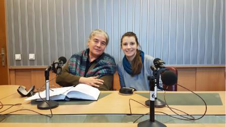 Проф. Мая Димитрова (вляво) и Мартина Кръстева
