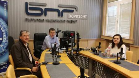 Геновева Петрова и Антоний Тодоров в студиото на
