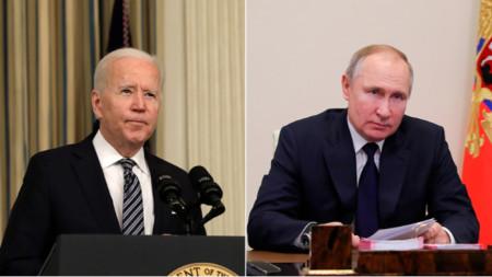 Джо Байдън (вляво) и Владимир Путин