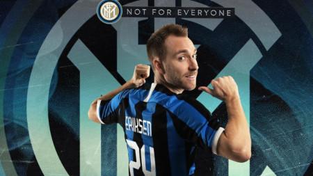 Кристиан Ериксен ще играе с №24 в Интер.