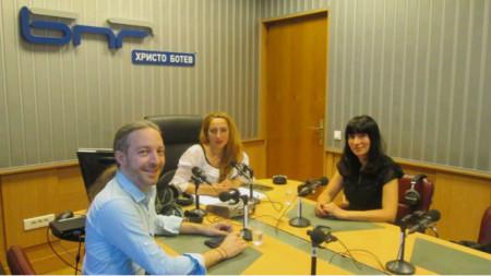 Иво Божков, Мария Мира Христова и арх. Мария Гуркова (отляво надясно)