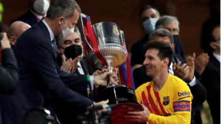 Барселона спечели за рекорден път Купата на Краля