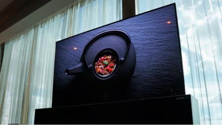 Телевизорът на LG в разгънат вид.