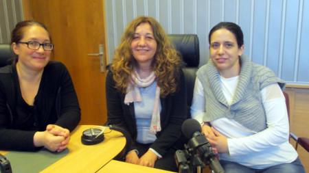Любомира Константинова, Нина Алтъпармакова и Биляна Николова (отляво надясно)