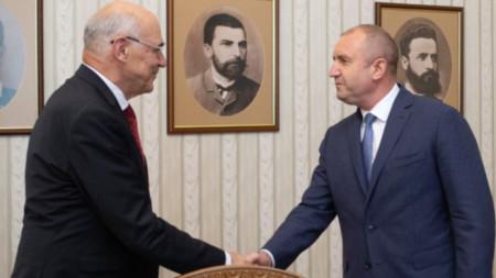 Среща на председателя на КЕВР Иван Иванов с президента Румен Радев