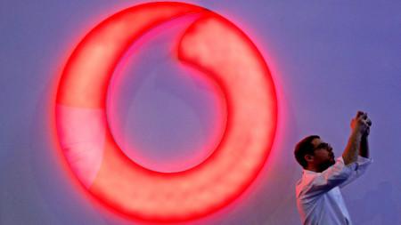 Лого на телекомуникационния гигант Vodafone