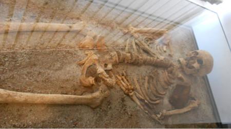 """Откритите останки, прободени с кол, в средновековен гроб, обявен като """"Вампирът от Созопол"""""""