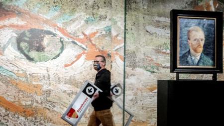 Сглобяване на секция в музея на Ван Гог - 17 март 2021 г.