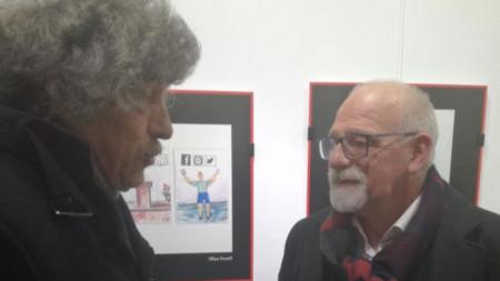 """Изложбата на Иван Кънев в галерия """"Май"""" в Сливен продължава до 20 януари."""