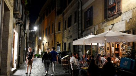 В много части на Италия отпада вечерният час