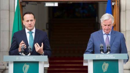 Пресконференция на Лео Варадкар и Мишел Барние
