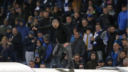 Проявите на феновете на Левски докараха солена глоба на клуба.