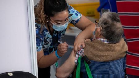 Ваксинация в Сантяго, Чили, 3 март 2021 г.