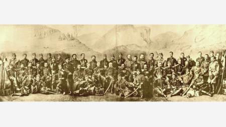 Офицерите от 138 Болховски полк, участвали в Руско турската война 1877 – 1878 година.