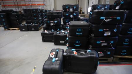 Voting machines in storage