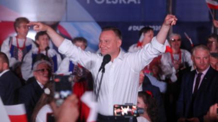 Президентът Анджей Дуда спечели първия тур на изборите за държавен глава в Полша