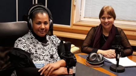 Албена Джоунс, президент на Международния Женски клуб, и Славена Илиева (от ляво на дясно)
