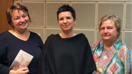 Дарина Маринова, Каролина Шути и Ваня Пенева (отляво надясно)