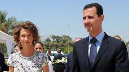 Президентът на Сирия и съпругата му през 2010 г.