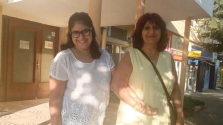 Радка Станева с дъщеря си Руми