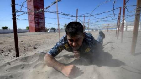 Обучаващи се военни в Ирак