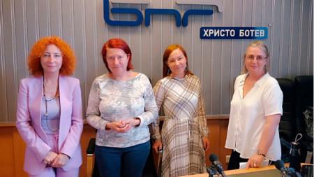Доц. Елка Трайкова, Венета Гаврилова, проф. Наталия Длугош  и доц. Мая Иванова (отляво надясно)