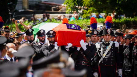Полицаят Марио Рега бе погребан на 29 юли м.г.