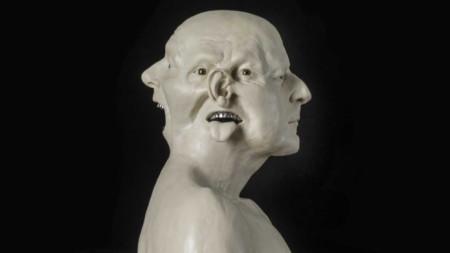Ян Фабър (Бюст с метални зъби), 2008, восък, полимер, гранит (частна колекция, Белгия)