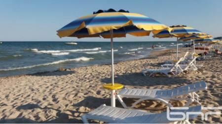 Плажът в Албена