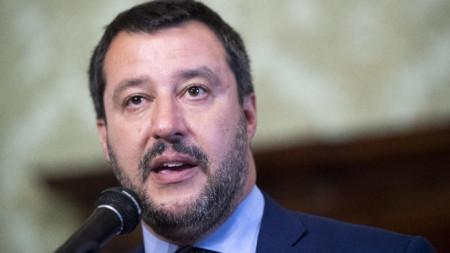 Италианският министър на вътрешните работи Матео Салвини.