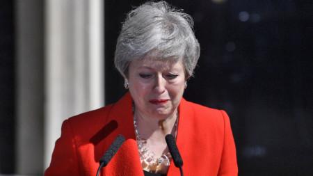 Тереза Мей обявява пред премиерския офис на