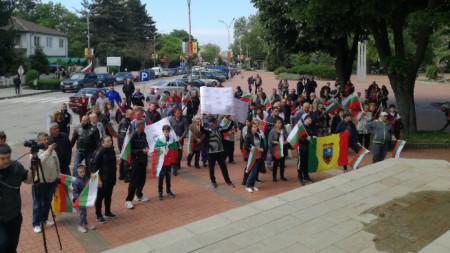 Мирният протест на жителите на квартал
