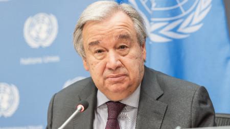 Генералният секретар на ООН Антонио Гутериш.
