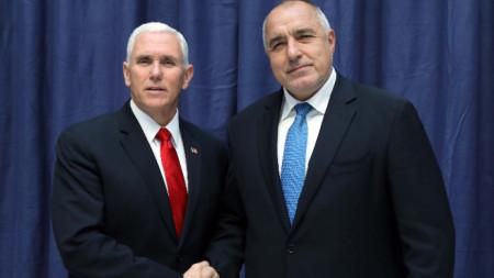 Бойко Борисов и американският вицепрезидент Майк Пенс разговаряха в Мюнхен