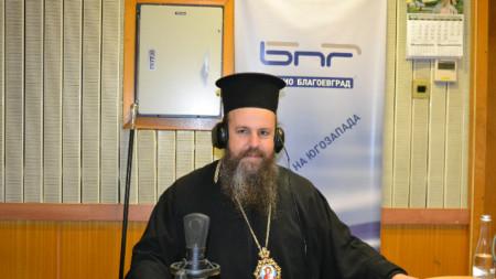 Митрополит Серафим в студиото на Радио Благоевград