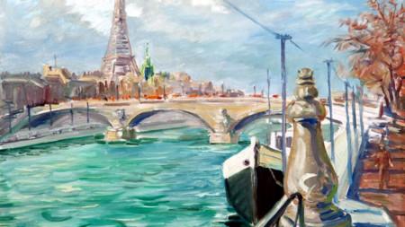 Ivan Tabakov, Paris sur Seine, 1960s
