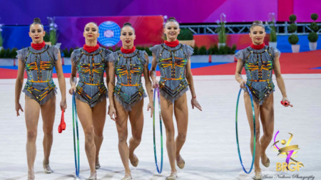 Bulgaria's rhythmic gymnastics group