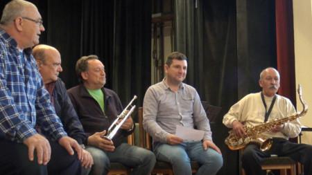 Музиканти от Градския духов оркестър