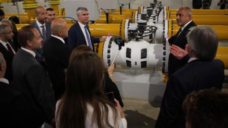 """Борисов откри разширението на газопреносната мрежа по трасето на """"Балкански поток""""."""