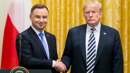 Анджей Дуда с Доналд Тръмп