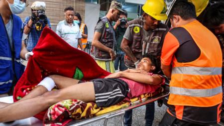 Ранен участник в протестите в град Мандалей, Мианма